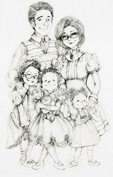 Illustration of Mom and Dad